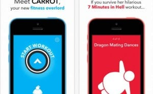 Carrot Fit app for iOS 8 with Apple's HealthKit