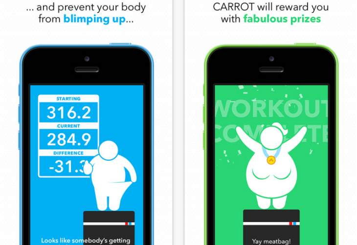 Carrot Fit iOS app for iOS 8