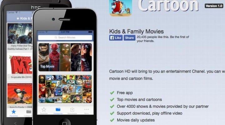 Cartoon HD app in download hunt