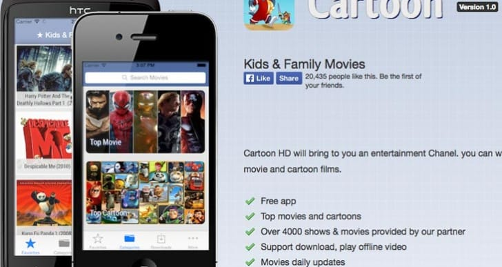 Cartoon HD app in download hunt