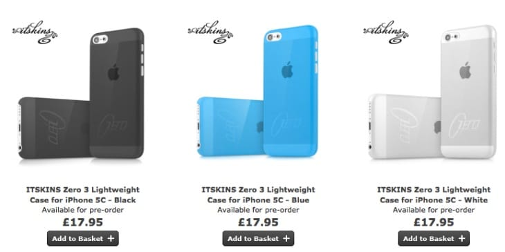 You can now pre-order your iPhone 5C cases