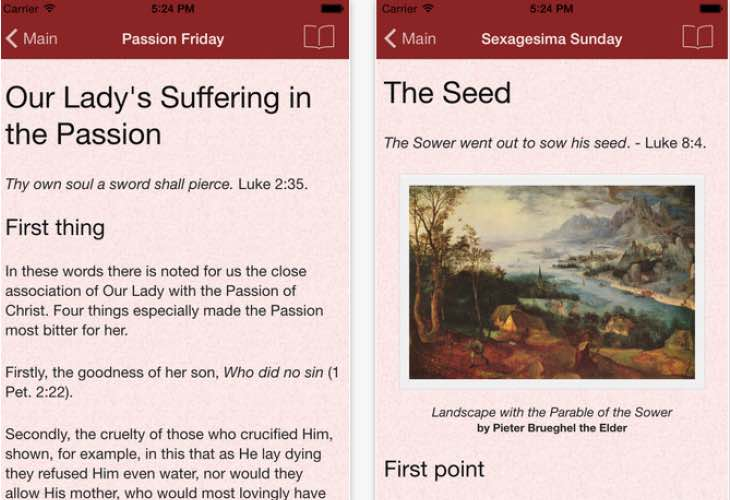 Catholic Meditations for Lent app