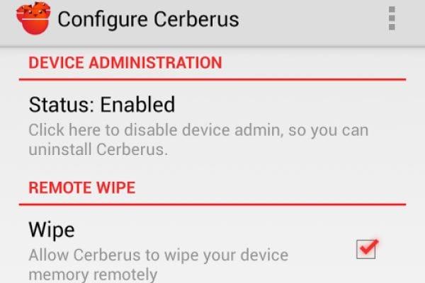 Cerberus anti theft android app