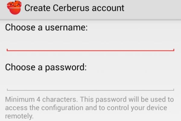 Cerberus anti theft android