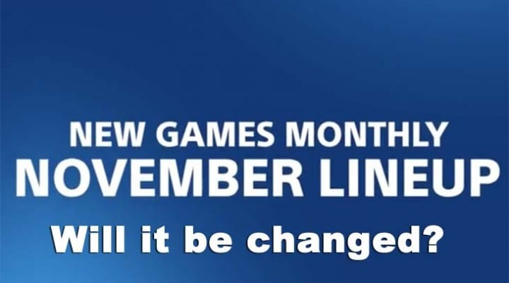 Change in PS Plus November 2014 lineup?