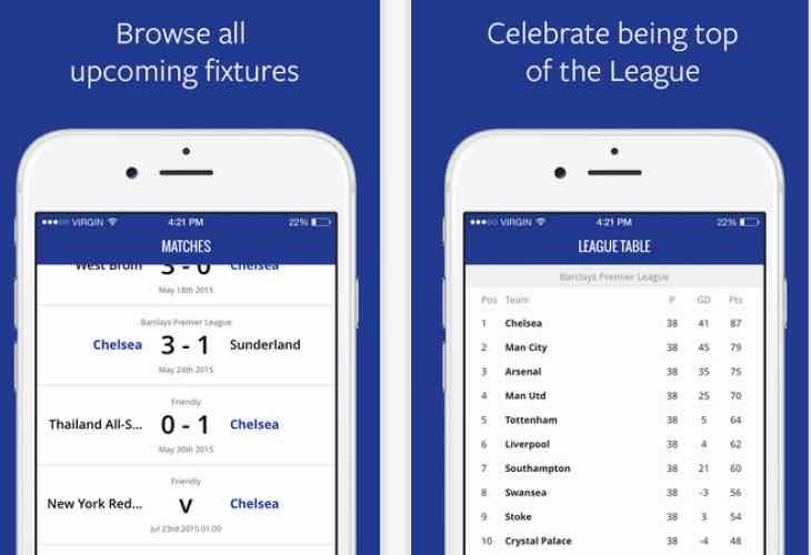Chelsea transfer news app