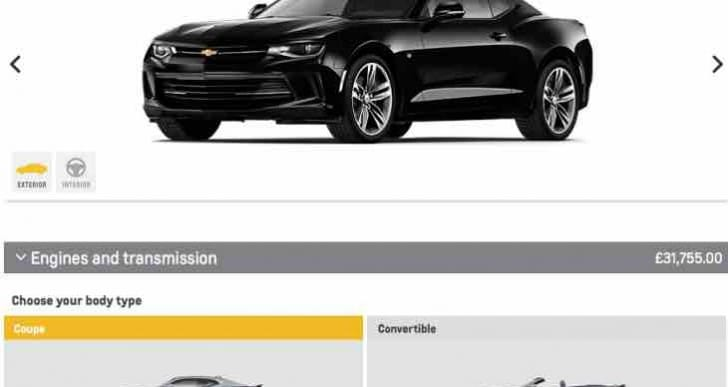 Chevrolet Camaro UK options and delivery date