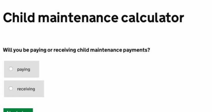 Child maintenance calculator apps in need of update