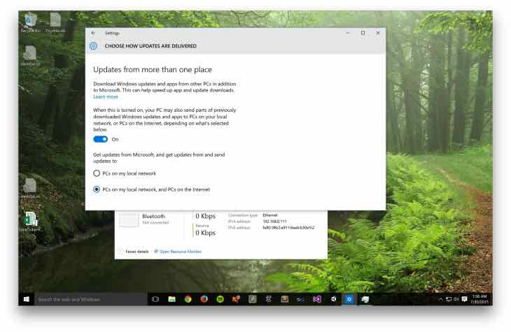 Choose Windows 10 updates