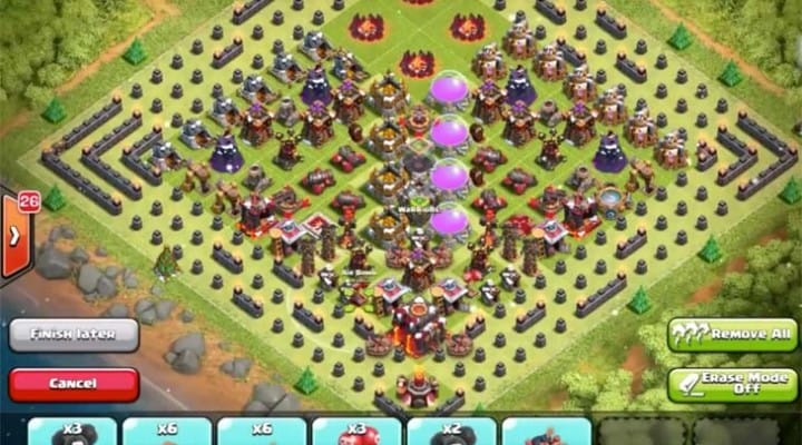 New Clash of Clans Christmas tree base layout