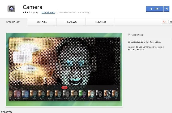 Chrome OS camera app getting new features
