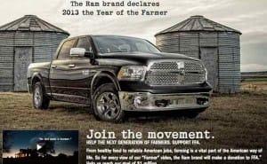 Chrysler Dodge Ram Super Bowl ad homage, not plagiarism