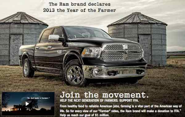Chrysler Dodge Ram Super Bowl ad homage, not plagiarism