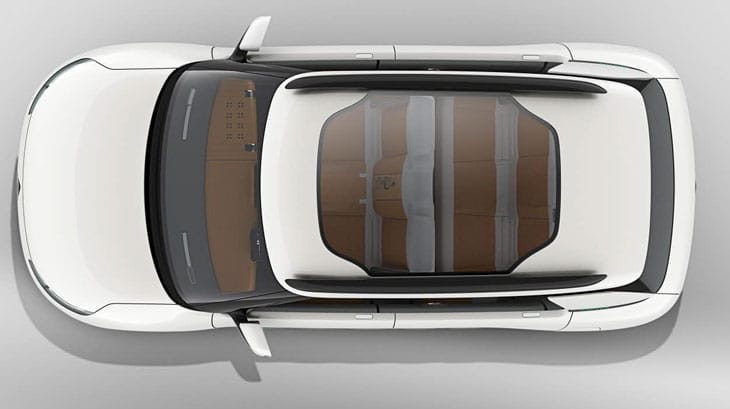 Citroen Cactus concept from above