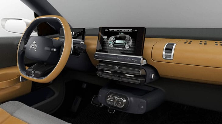 High tech inside the Citroen Cactus concept