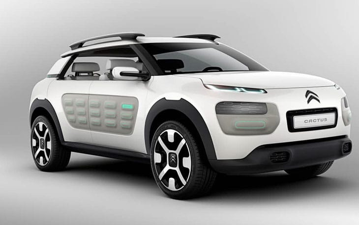 The Citroen Cactus concept will be much like the C4 in 2014
