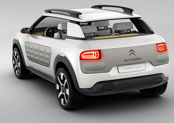 Citroen Cactus concept Airbumps clearly seen