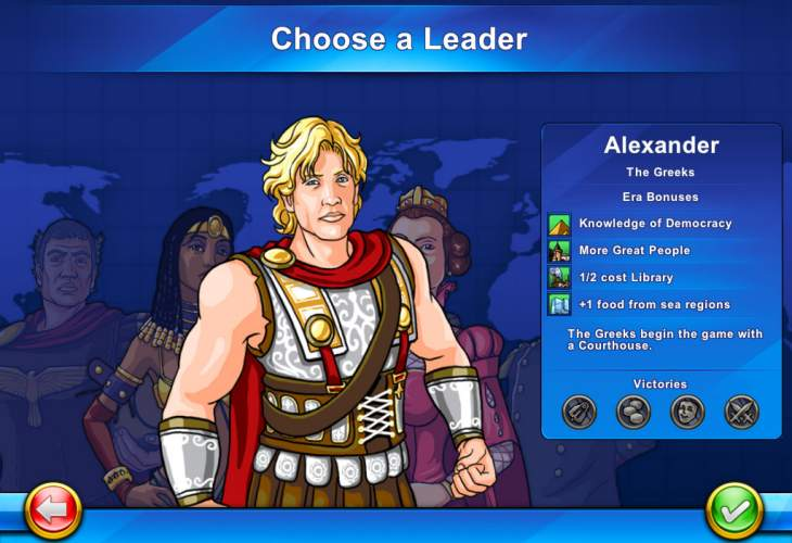 Civilization Revolution 2 for iPad displays features
