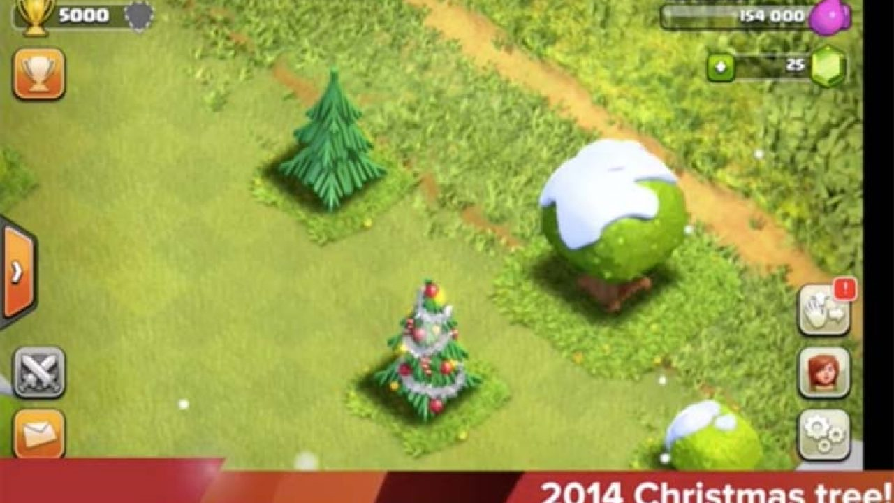 All Coc Christmas Trees.Clash Of Clans 2014 Christmas Tree For Winter Update