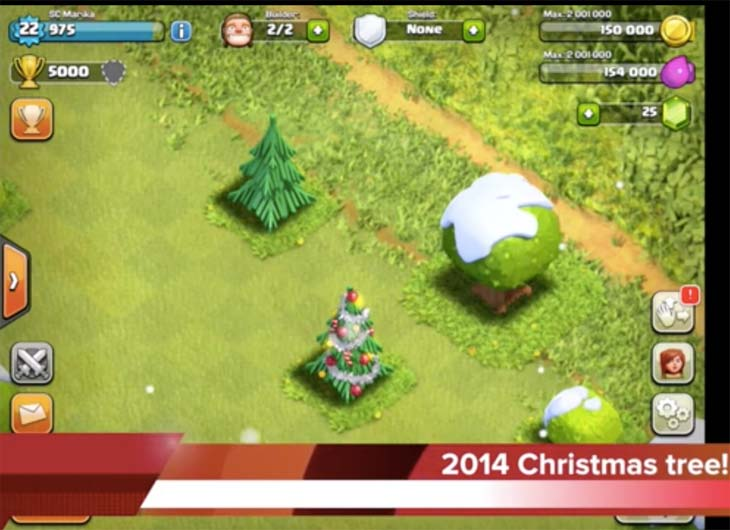 Clash Of Clans 2014 Christmas Tree For Winter Update Product