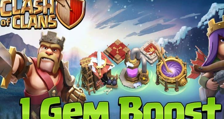 Clash of Clans maintenance with 1 gem boost hopes