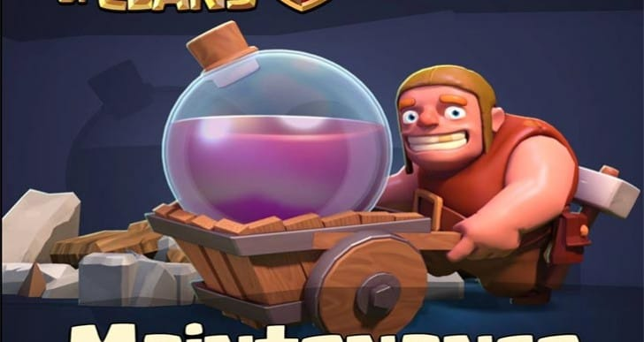 Clash of Clans maintenance break notes for April 1