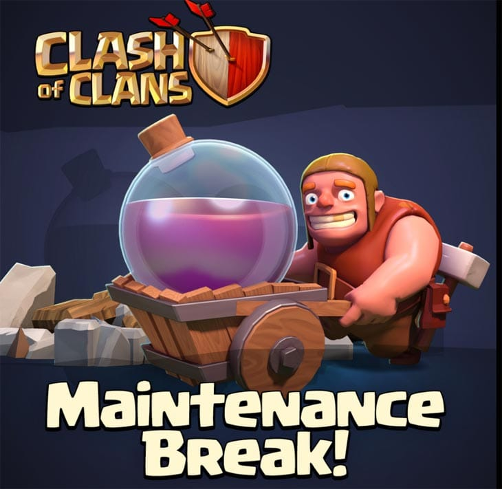 Clash of Clans maintenance for Sept