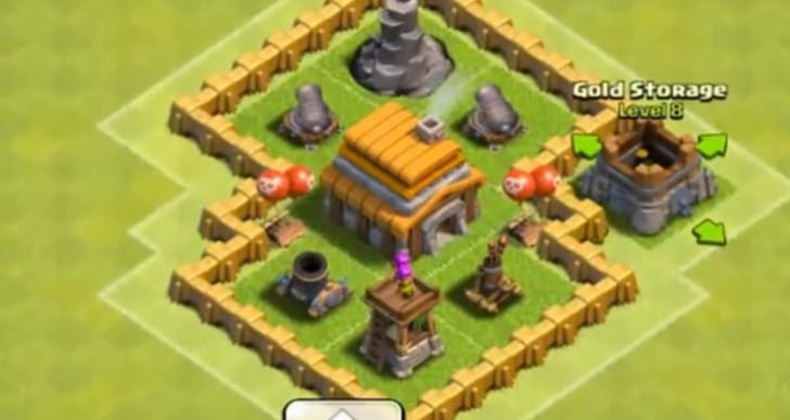Clash of Clans layout hunted by Town Hall level