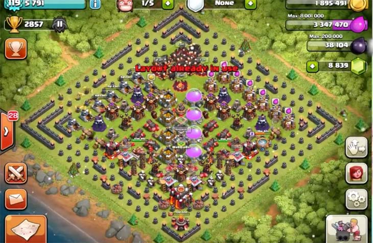 New Clash of Clans Christmas tree base layout  Product Reviews Net