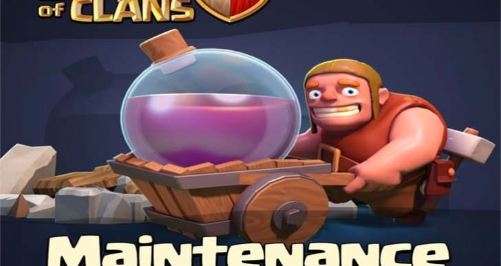 Clash of Clans servers down for maintenance today