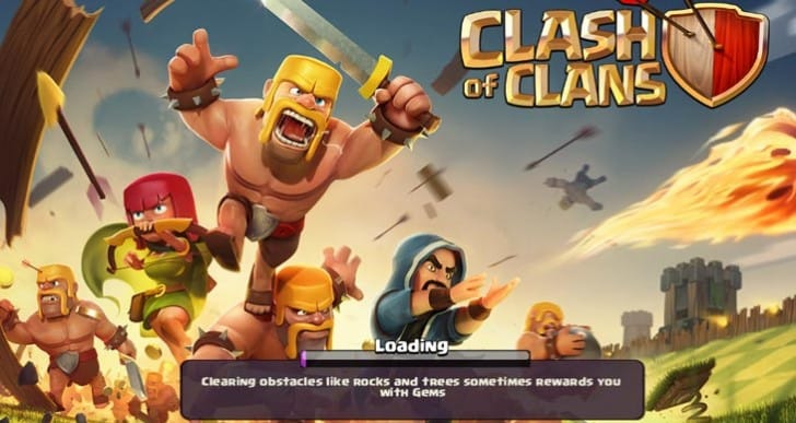 Clash of Clans not loading with infinite screen issues