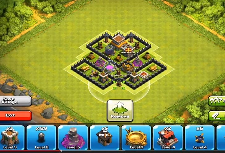 Clash of clans visual of best town hall 728x497