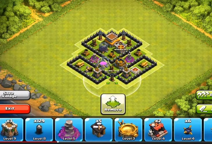 Clash Of Clans Best Town Hall 9 Defense Youtube