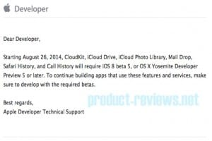 CloudKit changes ahead of iOS 8 release date