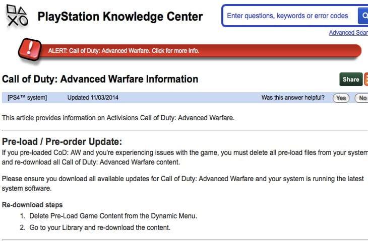 CoD-Advanced-Warfare-pre-load-PS4-problems-PSN