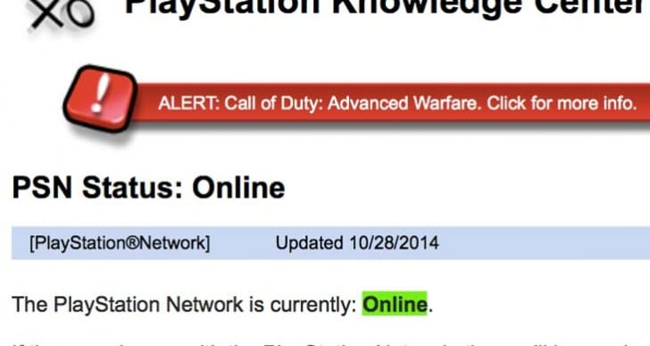 CoD: Advanced Warfare pre-load PS4 problems on PSN