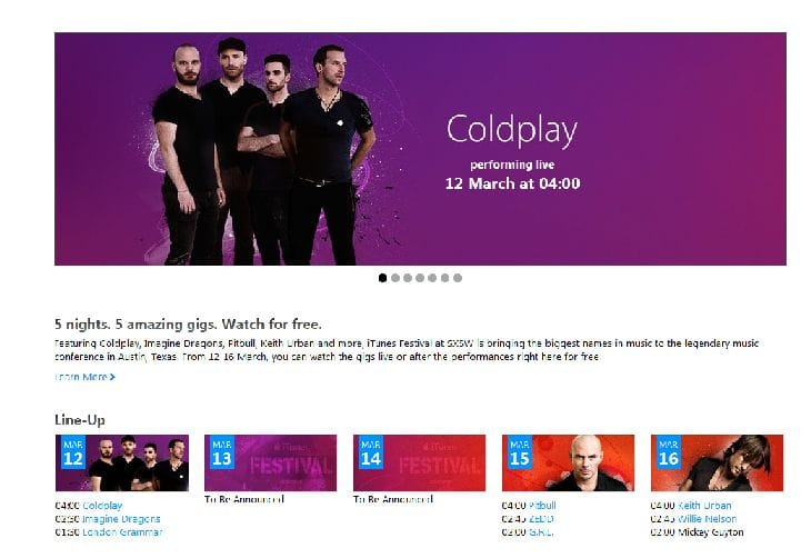 Coldplay-itunes