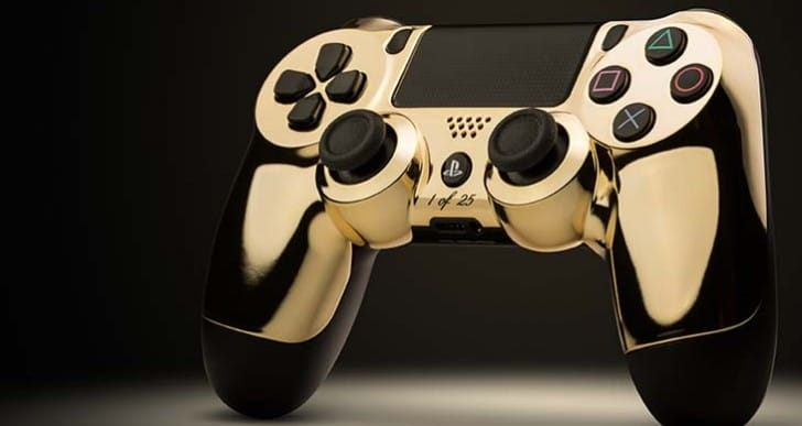 ColorWare 24k Gold PS4 DualShock 4 controller joins XB1