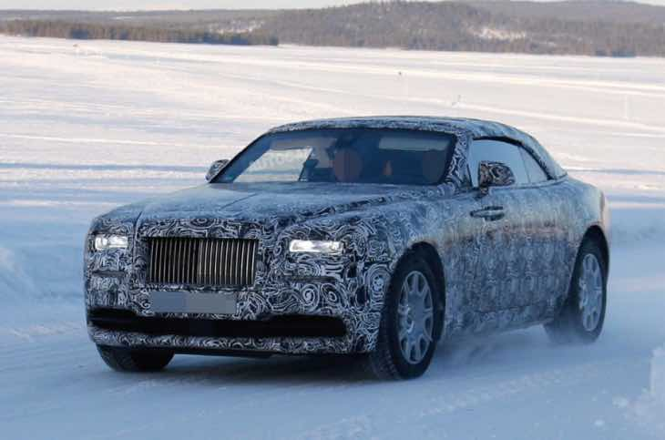 Convertible Rolls-Royce Wraith debut