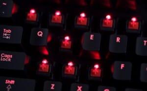 Corsair Vengeance K70 gaming keyboard up close