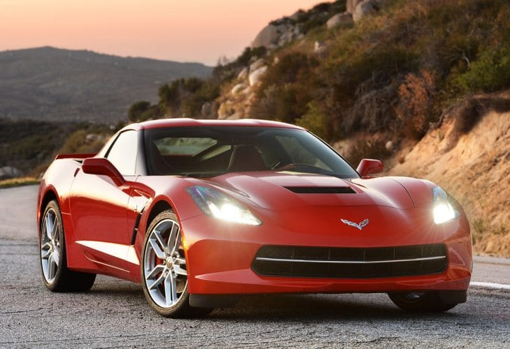 Corvette Stingray 2015 options list for personalization