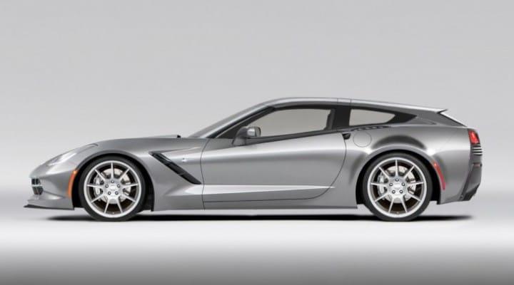 C7 Corvette Stingray shooting brake, a poor mans Ferrari FF