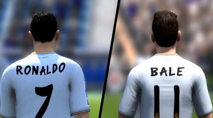 Cristiano Ronaldo vs. Bale and Valencia for FIFA 14 speed