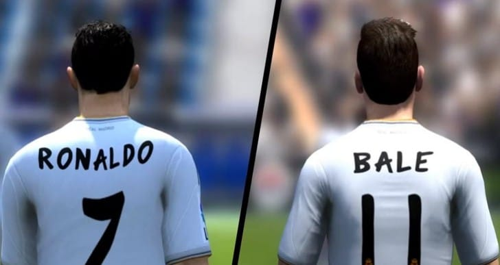 Cristiano Ronaldo vs. Bale and Valencia for FIFA 14 speed