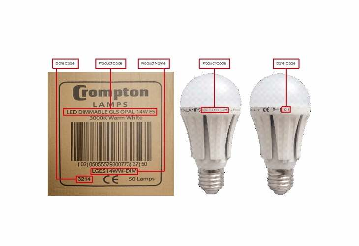 Crompton Lamps recalls two light bulb models
