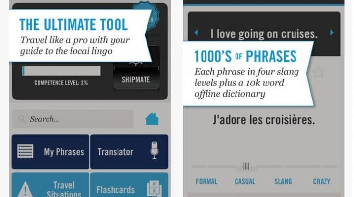 Cruise Lingo iOS, Android app by Celebrity Cruises