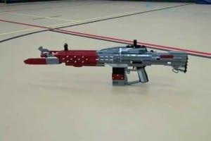Custom Destiny LEGO Red Death exotic pulse rifle