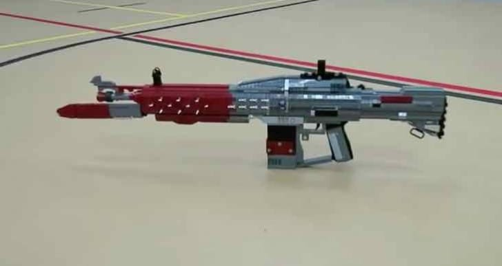 Custom Destiny LEGO Red Death exotic pulse rifle