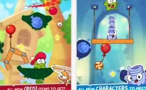 Cut the Rope 2 1.2.4 iOS update with RED items