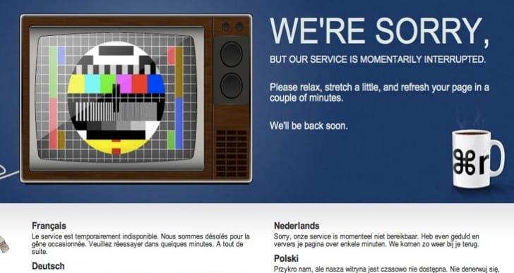 Dailymotion.com service returns after an hour outage